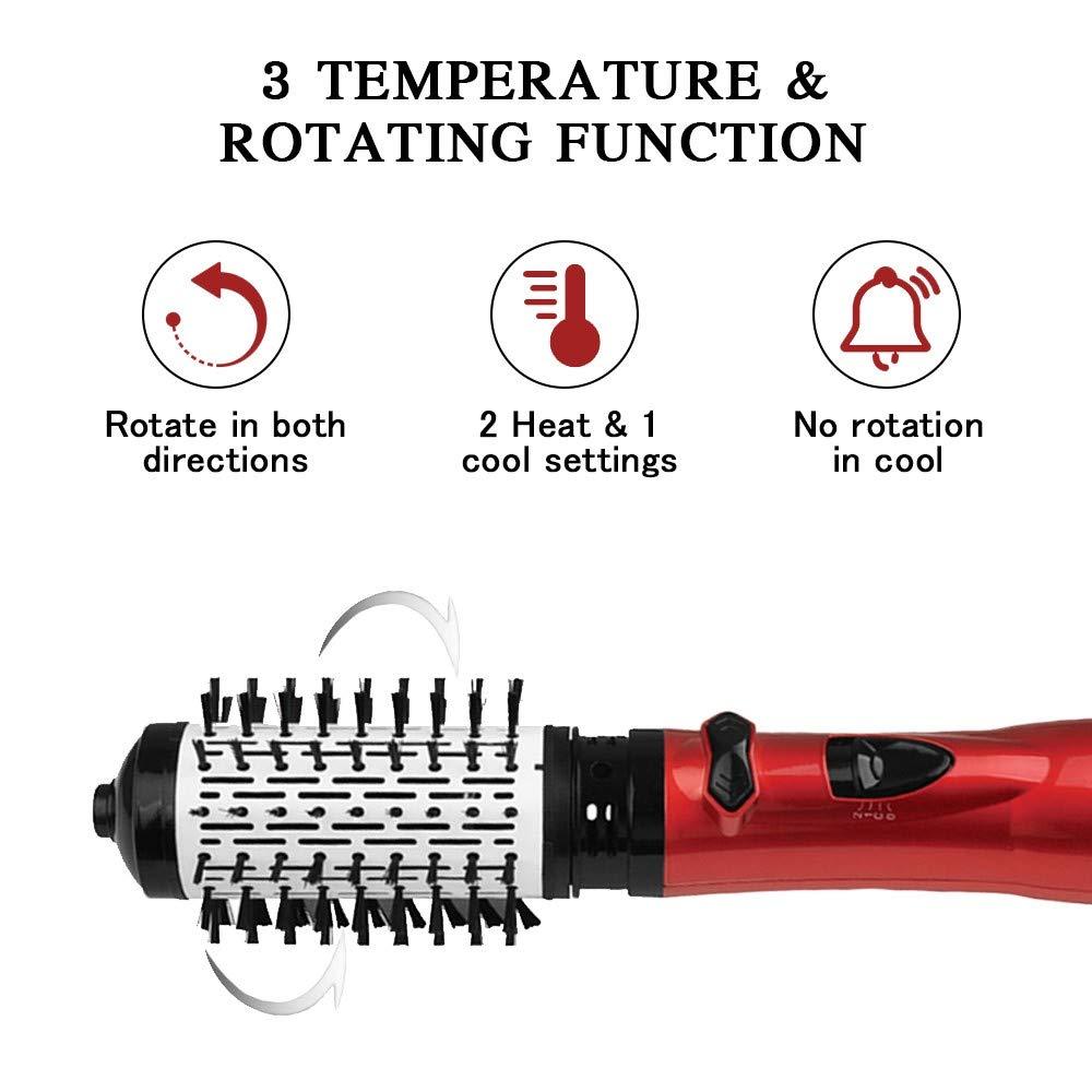 Escova para secar cabelo quente rotativa, profissional,