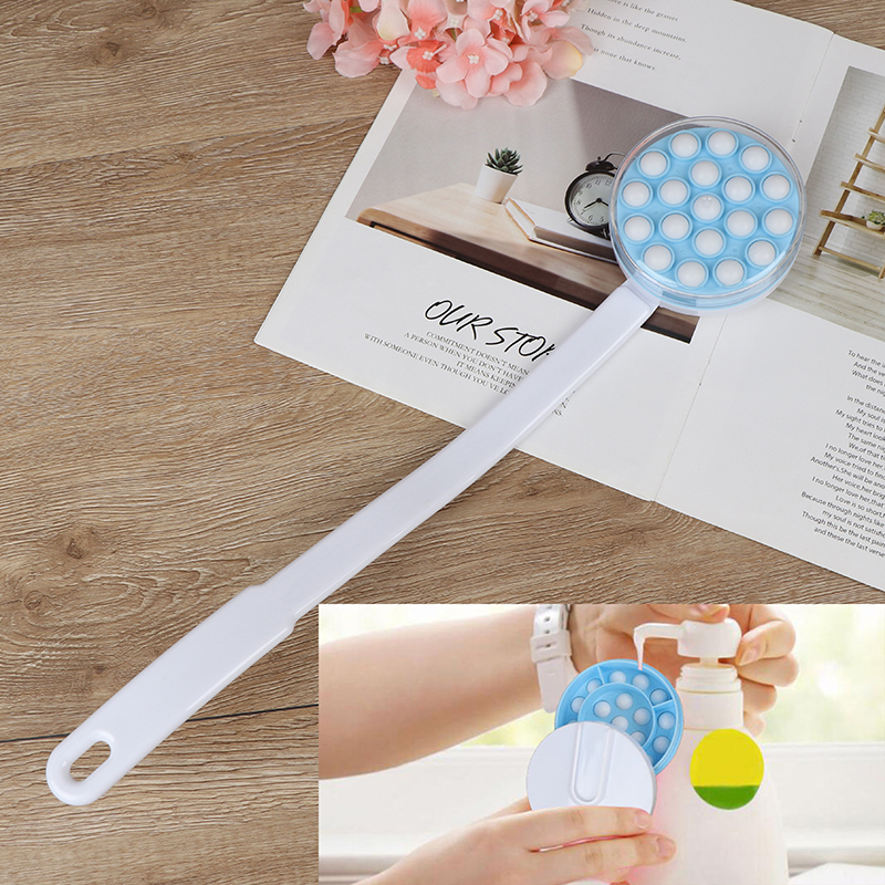 Bath Brush Long Handled Lotion Oil Cream Applicator Body Leg Back Massager Bath Brush Plastics Long Handle Bath Brush Hot Sale 1