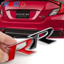 Carro de moda 3d metal tronco emblema remontagem emblema decalque para bmw honda rr logotipo civic mugen accord cidade carro adesivos estilo do carro