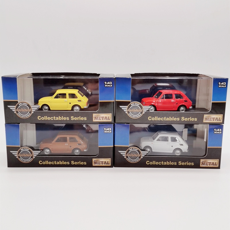 Original Packaging 1:43 Fiat 126 Alloy Model,simulation Die-cast Collection Gift,quality Metal Car Model,free Shipping