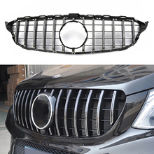 цена на GT Style Car Grille Grill Sport With Camera Hole For Mercedes Benz W205 C-Class C180 C200 C250 C300 C350 2015-2018 Front Grills