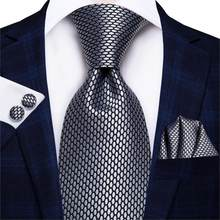 Hi-Tie – cravate Paisley unie noire 8.5 soie pour homme, 100% cm, pour affaires, de luxe, formel, mariage