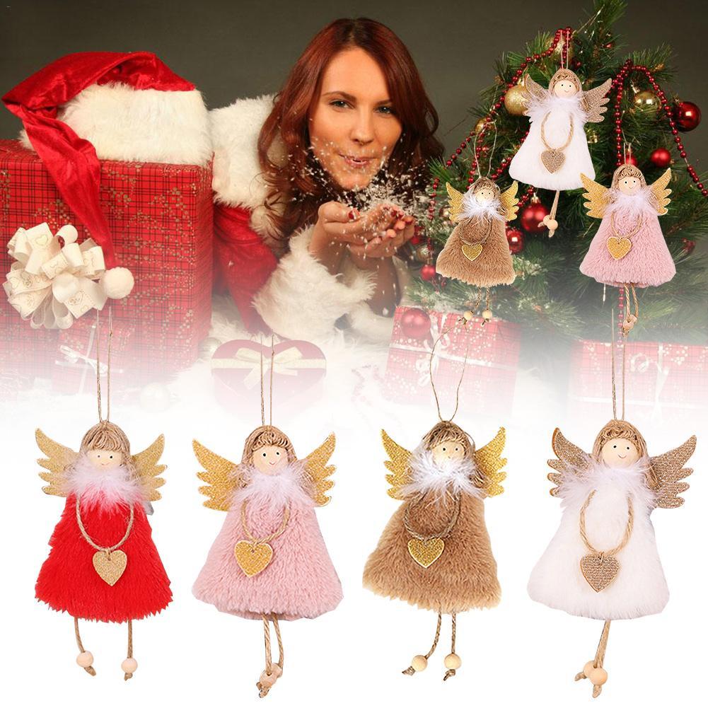 Mini Ski Doll Christmas Tree Hanging Ornament Knit Toys Pendant Home Dec LUV