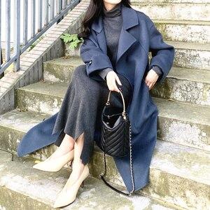 Image 2 - AYUNSUE Winter Coat Women 100% Wool Coat Female Double Side Woolen Coats and Jackets Women Korean Long Jacket Chaqueta Mujer MY