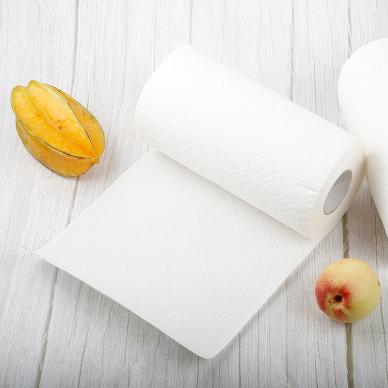 1 Pack/2 Roll Kitchen Paper Towel Roll Strong Oil-absorbing Tissue Water Absorption Soft High Toughness New FS99