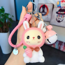 New Cute Bunny key Chains Variety of Cartoon Doll key Chain High Quality Car key Ring Bag Pendant Exquisite Gift For Friends(China)