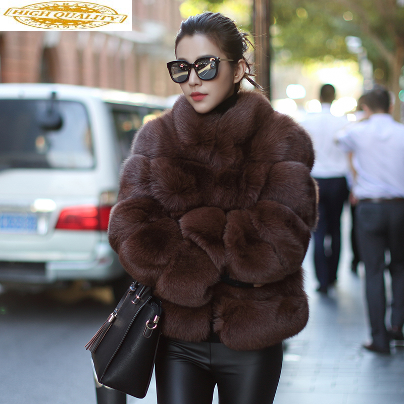 Short Real Fur Coat Natural Fox Fur Winter Coat Women Clothes 2020 Autumn Luxury Jacket Elegant Coats Abrigo Mujer KJ965