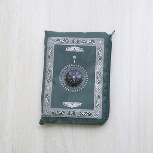 Image 5 - 100x60cm 5 색 쉽게 무바라크 무슬림 라마단 기도 깔개 매트 포켓 접는 담요에 대 한 이슬람 나침반에 대 한