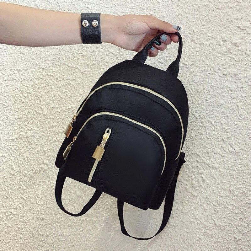 Women Travel Backpack Oxford Cloth Zipper Shoulder Bag Casual Mini Backpacks FO Sale