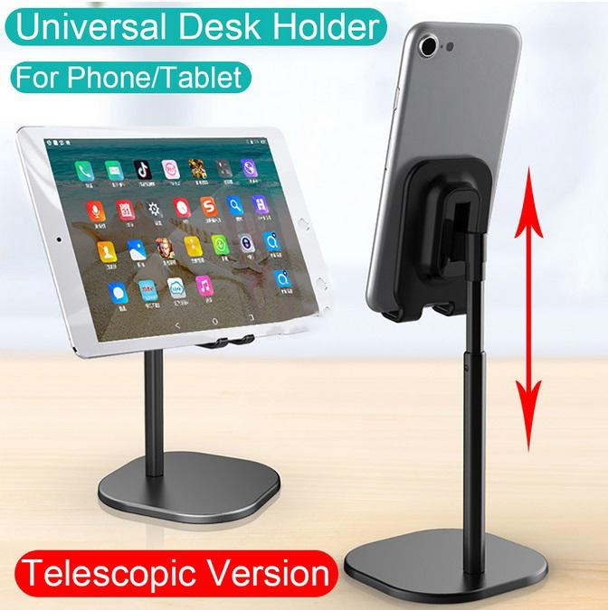 Group Vertical Universal Desk Telescopic Cell Phone Holder Stand For Mobile Phone/Tablet Desktop Holder For Mobile Phone D20
