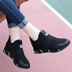 2019 женские кроссовки; Вулканизированная обувь; женская повседневная обувь; дышащая прогулочная обувь из сетчатого материала на плоской под...