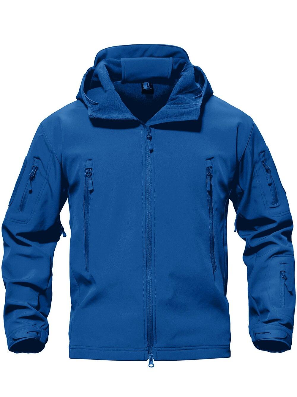 TACVASEN Softshell Jacket Windbreaker Military Army Hunt Waterproof Winter Camouflage