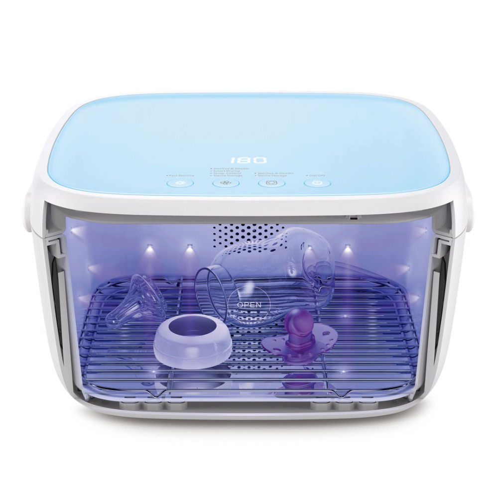 59S UV Sterilizer and Dryer Cabinet T5 Small Household UVC LED Sanitizer Portable Fast Sterilization Multifunctional Electric Disinfestor (2)