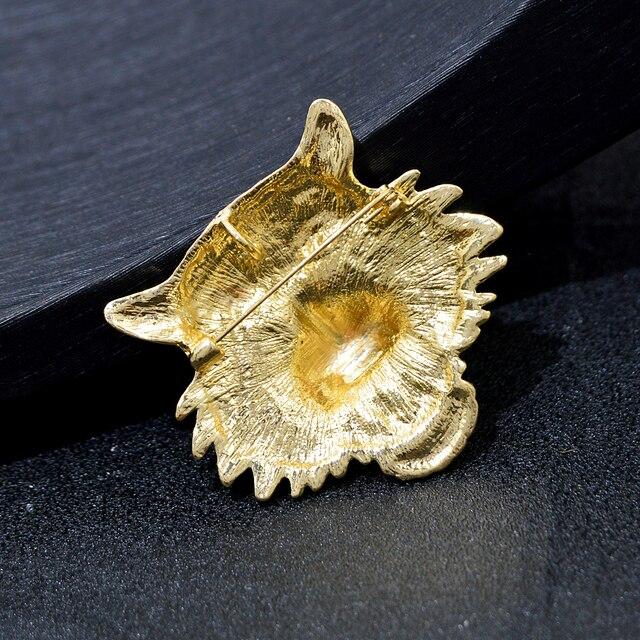 CINDY XIANG-broches Vintage con cabeza de tigre y leopardo, broche de Animal vívido, Pins, joyería de cristal con diamantes de imitación para hombres y mujeres 6