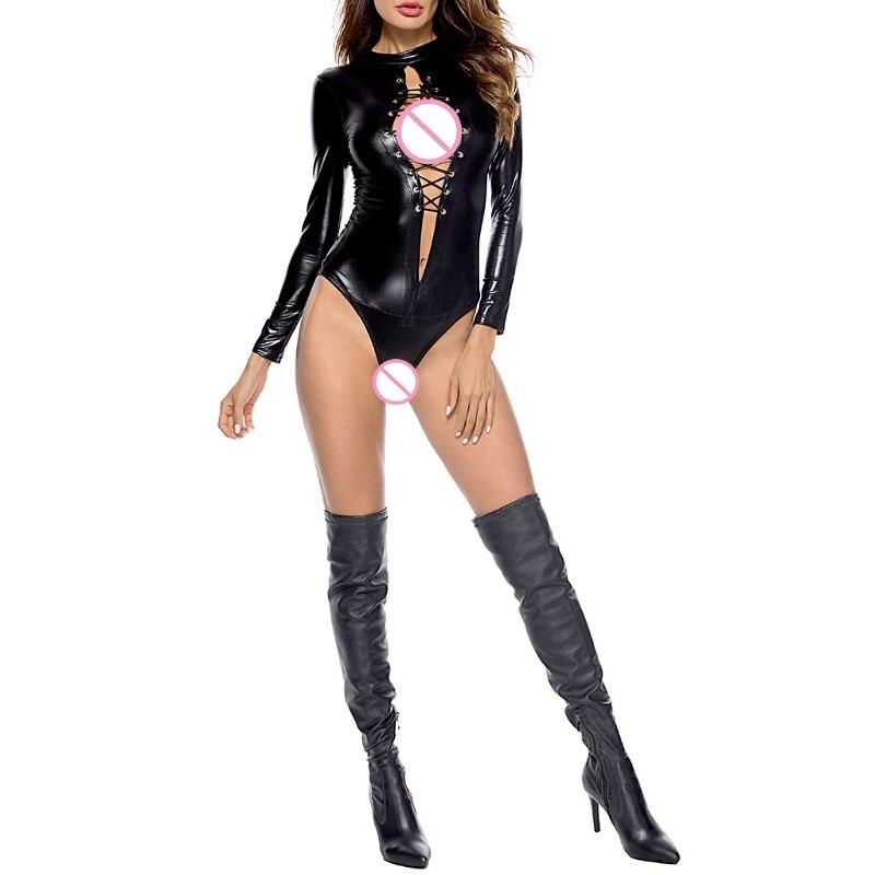 Vrouwen Sexy Lingerie Clubwear Erotische Bodysuit Ondergoed Volwassen Kostuums - 4