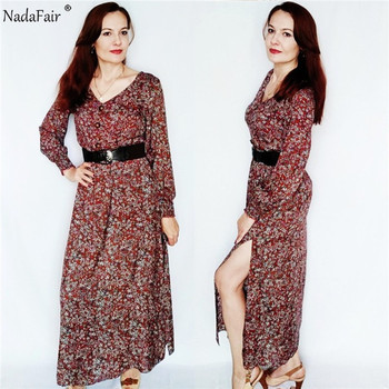 Long Sleeve Spring Elegant Retro Maxi  5