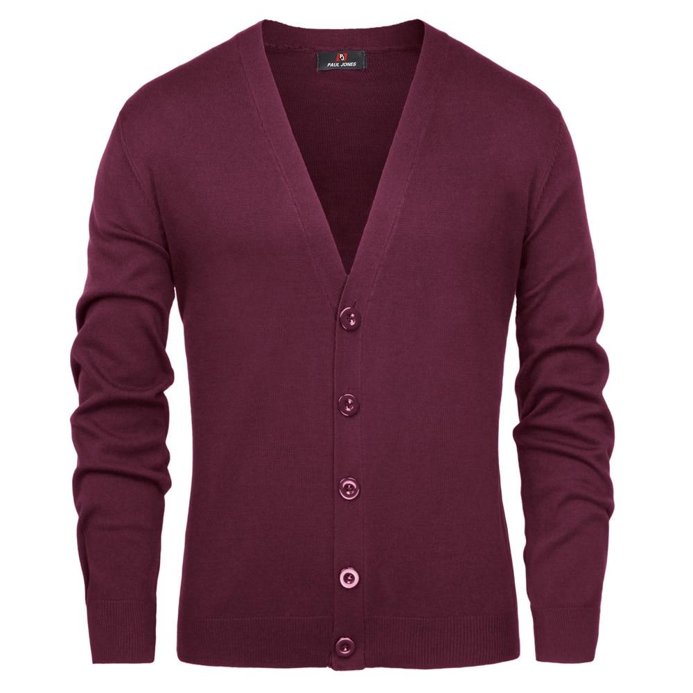 PJ Men Knitwear Sweatercoat Stylish Long Sleeve V-Neck Button-Placket Knitting  Knitwear Malt Cardigan