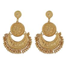 Indian Afghan Jewelry Oxidized Silver Gold Earrings Metal Party Wear Antique Wed