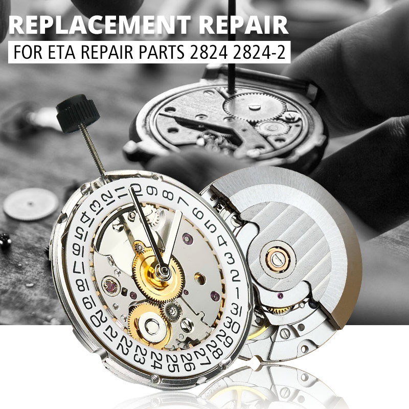 Mechanical Watch Automatic Movement High Accuracy Repair Replacement Accessories 2824 2824-2 Polish Finish For ETA Repair Parts