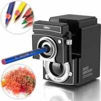Deli Ретро камера точилка для карандаша ручная сгибание для студентов классной комнаты офиса домашнего использования 40D0668