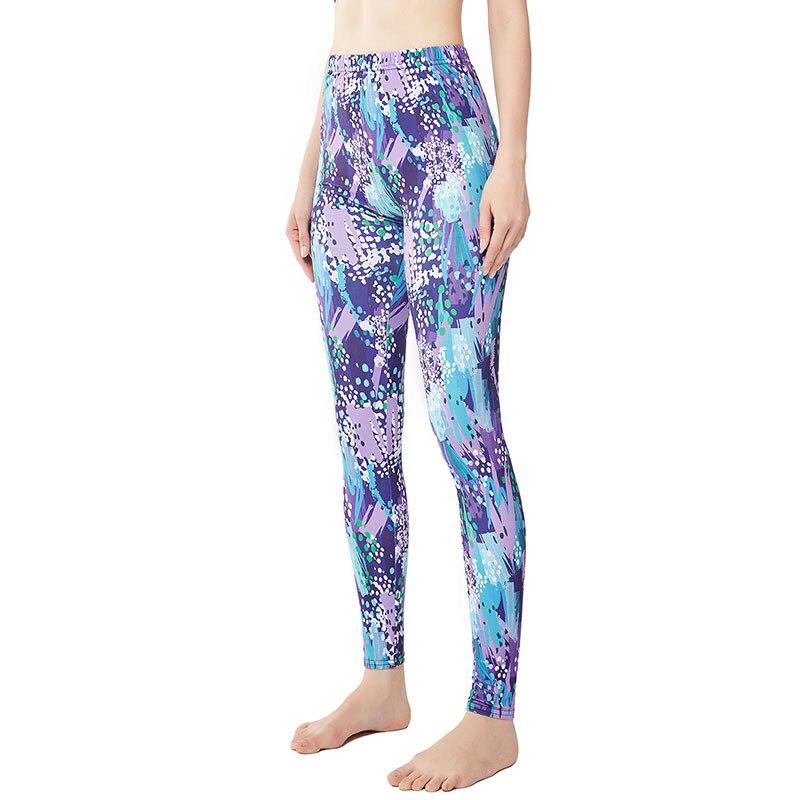 9083 New Style Graffiti Inkjet Light Color 3D Digital Print Yoga Pants Women's Large Size Elasticity Tight-Fit Athletic Pants
