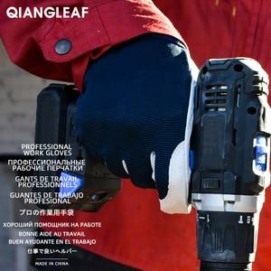 Image 4 - Qiangleaf 3 pçs venda quente d grau luvas de couro luvas de trabalho de segurança resistente ao desgaste luvas de trabalho masculino mitten frete grátis 508