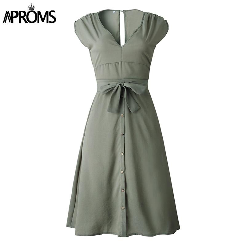 Aproms Vintage Stripe Print Midi Dress Women Elegant Deep V Sash Tie Up Bodycon Dresses Female Summer Streetwear Sundresses 19 23