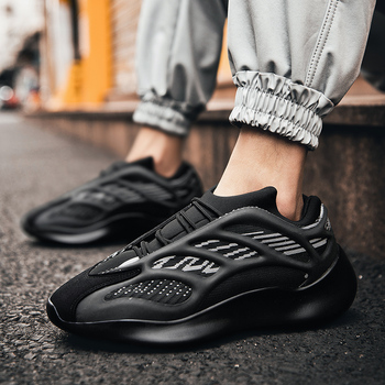 2020 Fashion Men Shoes Causal Coconut Dad Shoes Male Spring Sneakers Lace up Flats Breathable