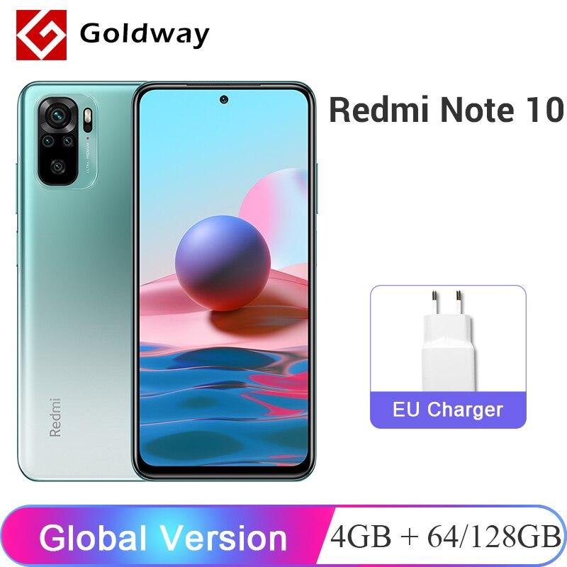 Глобальная версия Xiaomi Redmi Note 10, 4 Гб RAM, 64 ГБ/128 ГБ ROM мобильный телефон Snapdragon 678 6,43