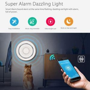 Image 2 - Tuya الحياة الذكية واي فاي USB صافرة إنذار كاشف حساس لاسلكي ضوء الصوت إنذار