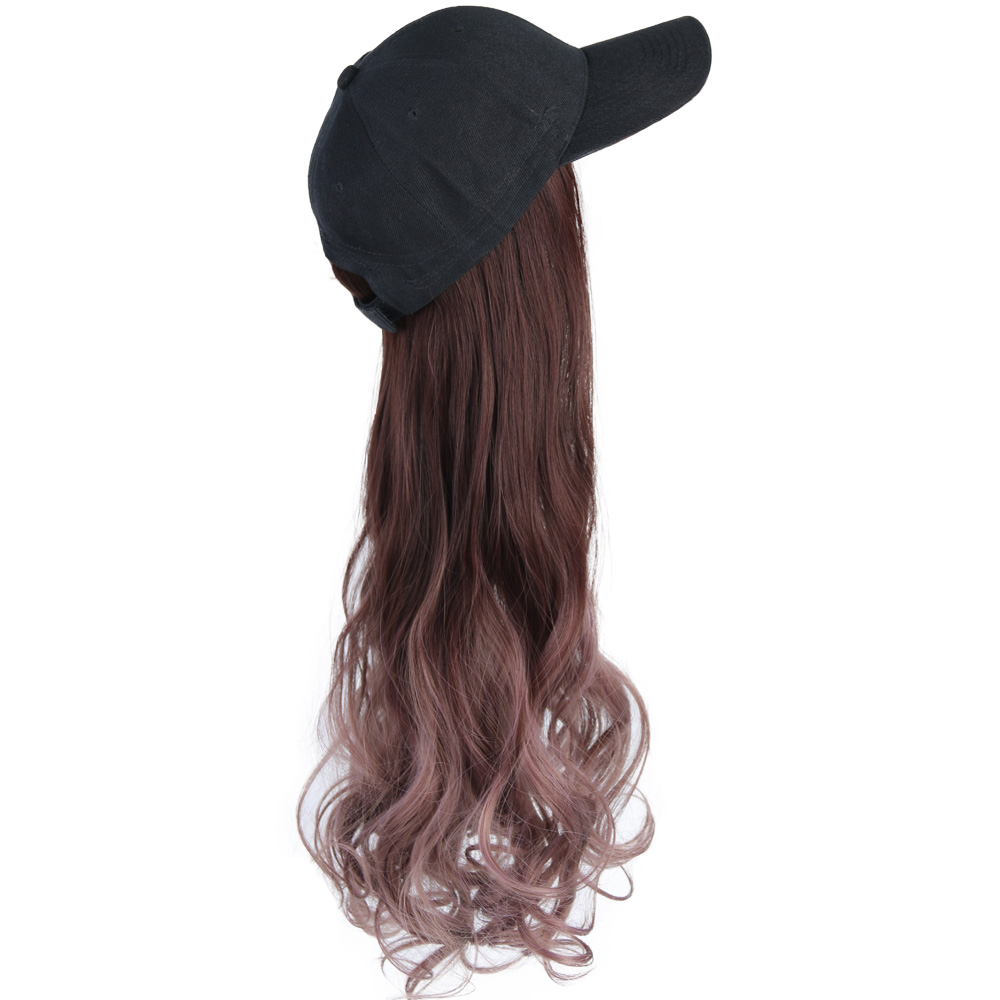 cabelo moda boné peruca de cabelo ajustável para festa da menina