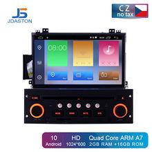 Автомобильный DVD-плеер JDASTON, Android 10,0, для Citroen C5 2005-2012, GPS навигация, аудио, Wi-Fi, мультимедиа, стерео, автомагнитола 1 Din