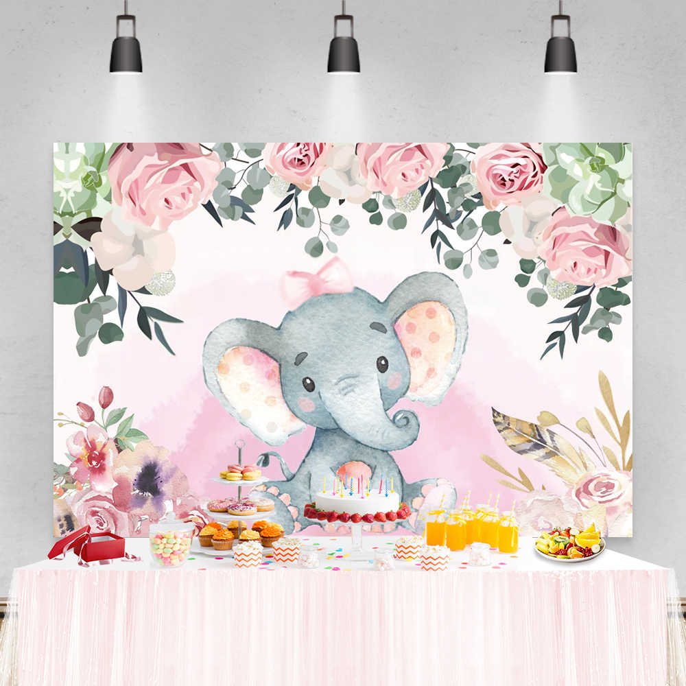 Laeacco 7x5ft Graceful Pink Flamingos Illustration Vinyl Photography Background Child Baby Girl Birthday Party Backdrop Baby Shower Childish Wallpaper Studio Props