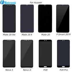 Netcosy wyświetlacz LCD ekran dotykowy Digitizer zgromadzenie dla Huawei P20 Pro Mate 20X20 Lite Nova 3 3i P smart 2019 pełny ekran LCD w Ekrany LCD do tel. komórkowych od Telefony komórkowe i telekomunikacja na