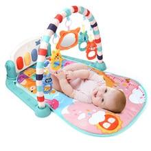 Qwz novo bebê chocalhos jogar tapete educacional quebra-cabeça com teclado piano canção de ninar música crianças ginásio rastejando atividade tapete brinquedos