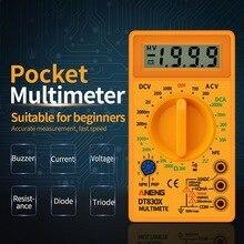 Urijk DT830B AC/DC ЖК-цифровой мультиметр 750/1000 в Вольтметр Амперметр Ом тестер Высокая безопасность ручной измеритель цифровой мультиметр