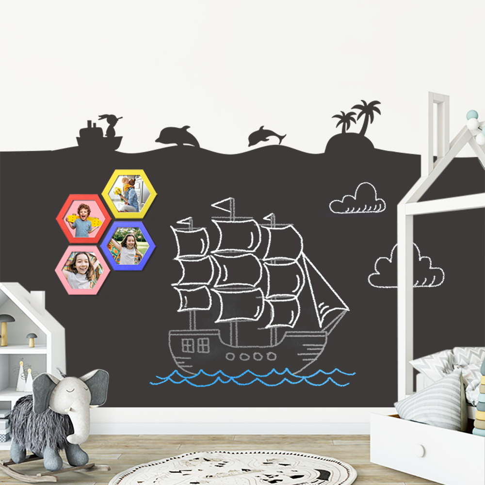 Erasable Painting Chalk Board Blackboard Teaching Writing Message White Board Removable Vinyl Draw Mural Decor Art Wall Stickers