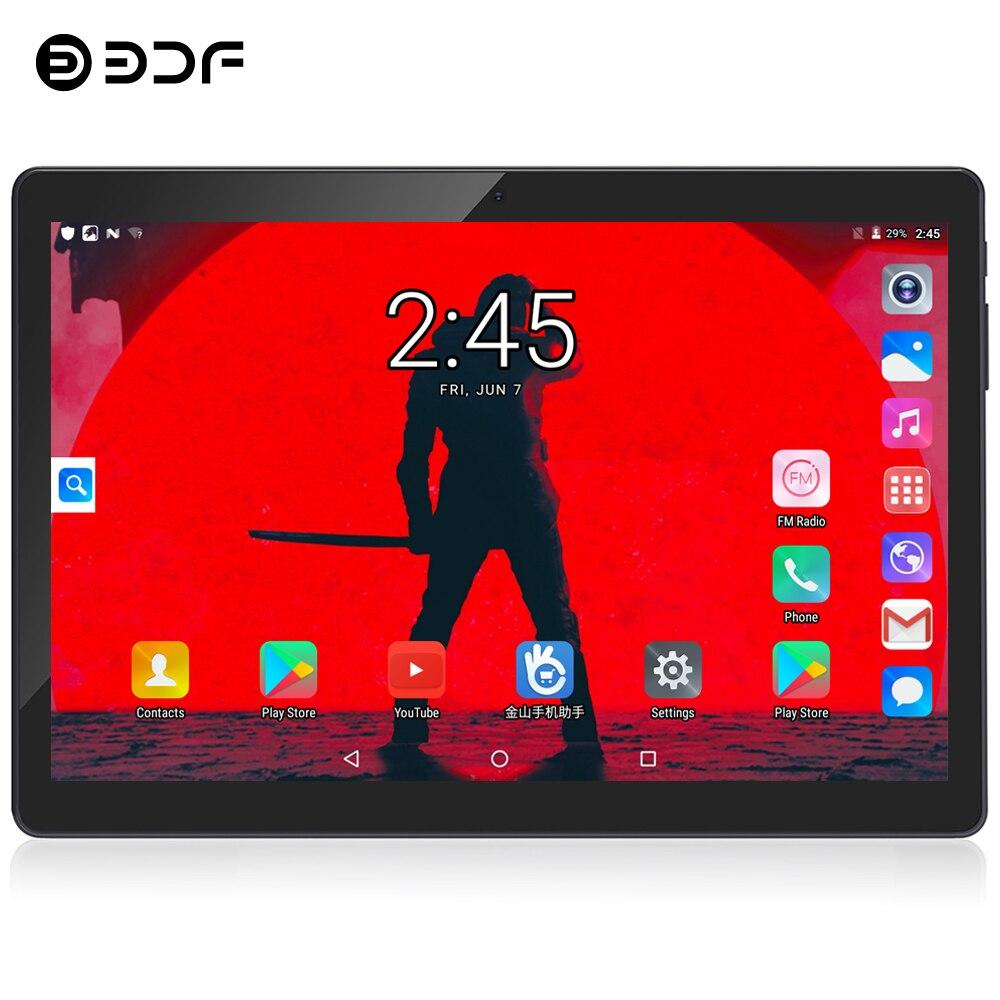 BDF 2020 New 10 Inch Tablet Android 7.0 4/Quad Core 1GB/32GB Dual Camera 5.0MP SIM Tablet Pc WiFi Bluetooth 3G Phone Tablet