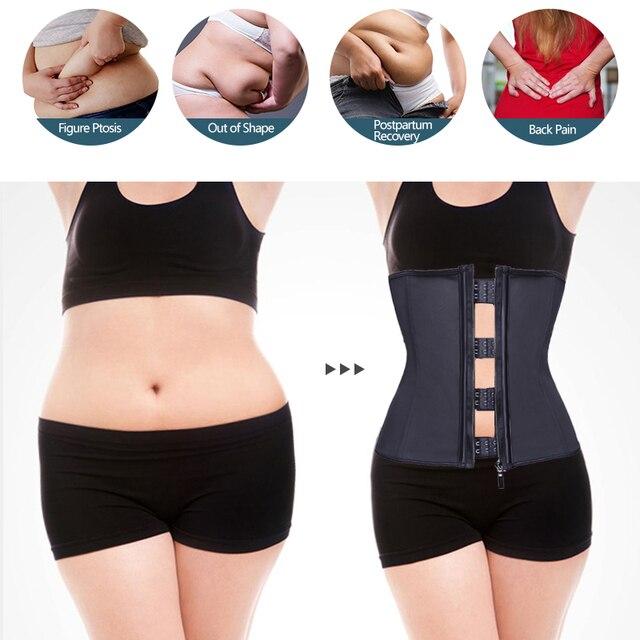 VASLANDA Women Weight Loss Waist Trainer Body Shaper Tummy Control Abodmen Trimmer Belt Shapewear Sweat Girdle Underbust Corset 1