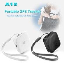 A18 gps миниатюрное устройство отслеживания носимых локатор трекер для домашних животных детей пожилых поддерживает gps LBS Отслеживание с Google maps gps-сигнализация