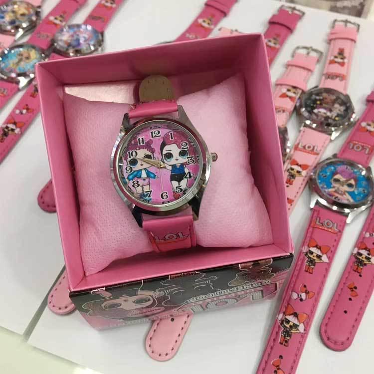 LOL surprise dolls, куклы, силиконовые часы, Детские кварцевые наручные часы, случайный цвет, 1 шт., модные Мультяшные часы для девочек, Подарочная игрушка