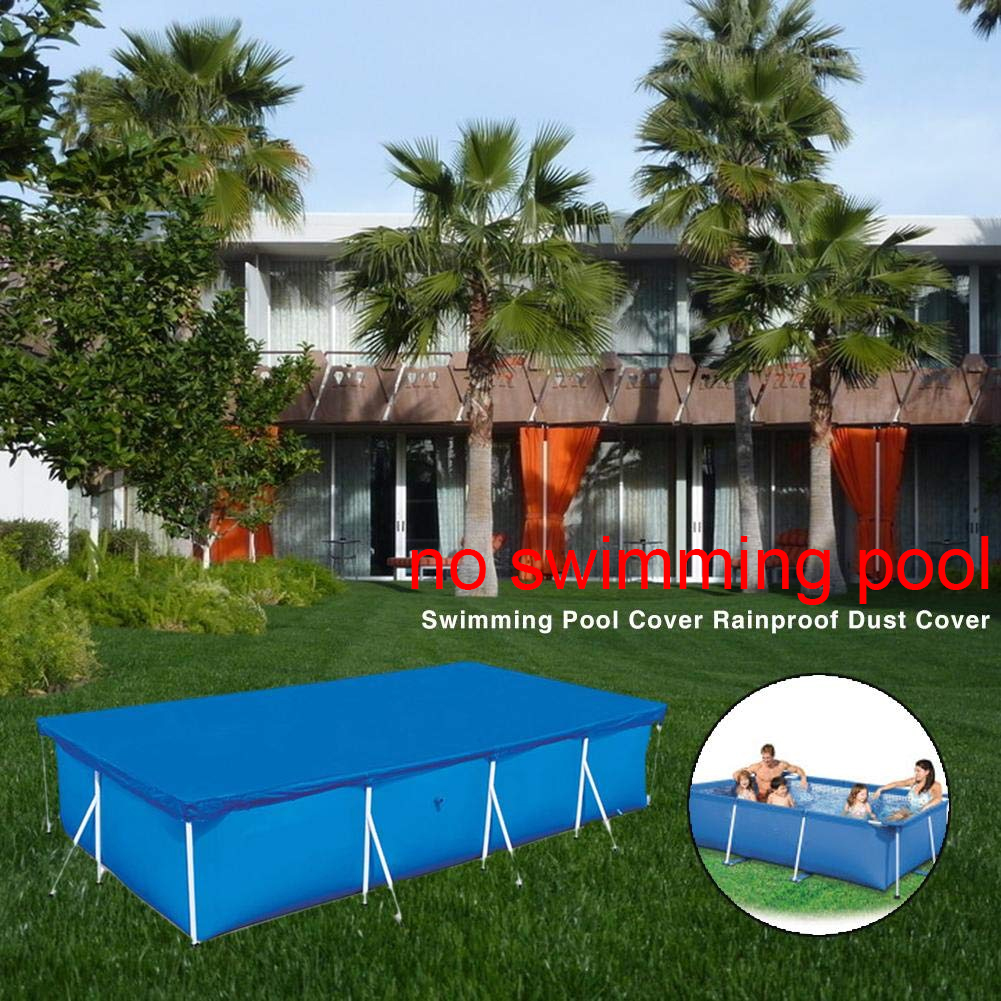 Anti Dust Above Ground Easy Use Home Garden Durable Rainproof Thicken Protective Polyester Pool Cover Rectangular Keep Clean