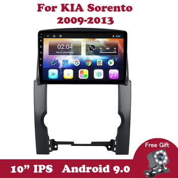 Android 9 Car Radio Head Unit For Kia Sorento 2 XM 2009 2010 2011 2012 Multimedia Player 10.1 IPS Touchscreen Navigation GPS image