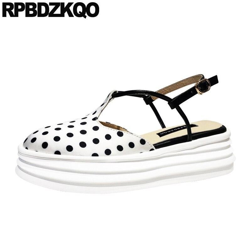 Туфли на толстой платформе, шикарные сандалии на танкетке с квадратным носком, атласные туфли с ремешком на пятке в стиле Харадзюку, черно б
