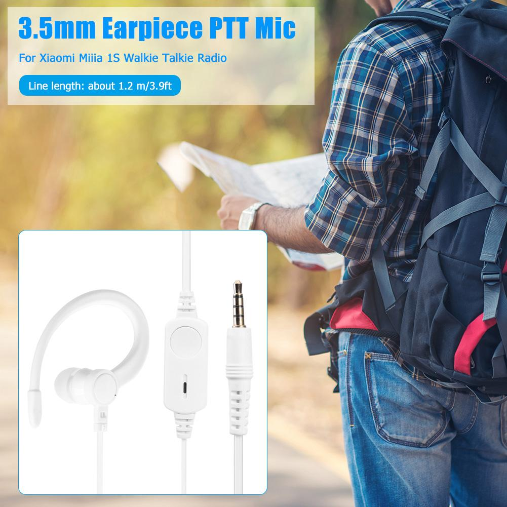 1.2m PTT Walkie Talkie Earpiece Mic Earbuds Headset for Xiaomi Mijia 1S Radio  Double-Layer Wire Beautiful and Durable