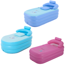 цена на Children's summer inflatable bath pool baby insulated bathtub with foot pressure air pump thickened warm swimming pool