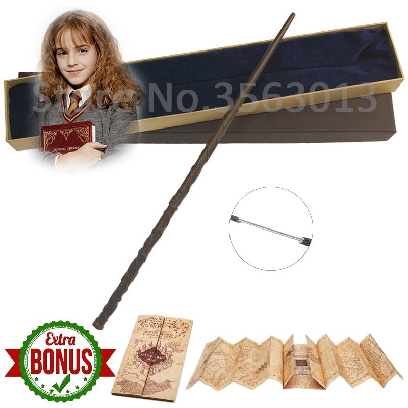 Colsplay Metal Core Hermione Granger Magic Wand/ Harri Magical Wand/ High Quality Gift Box Packing Halloween Toy Gift