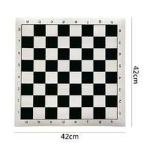 Torneio de couro do pvc placa de xadrez educacional de alta qualidade para jogos educativos das crianças 34.5x34.5cm/42x42cm