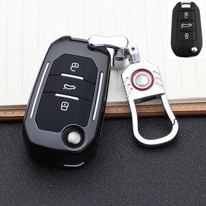 Image 1 - حافظة مفاتيح السيارة مع 3 أزرار لبيجو 107 ، 308sw 407 ، 208 ، 508 ، 408 ، 2018 ، سيتروين C4 ، كاكتوس ، C5 ، C4L ، الملحقات