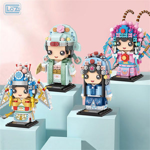 LOZ Action Figures Chinese Classical Peking Opera Building Blocks Juguetes Creator Characters Bricks Toys for Kids Gifts